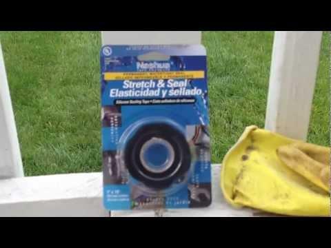 Seal the hole in PVC Sprinkler pipe