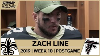 Zach Line Talks Self-Inflicted Wounds After Week 10 | New Orleans Saints Football