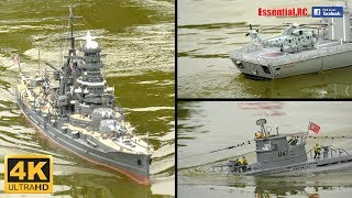 SUPER DETAILED RC SHIPS, BOATS and SUBMARINES (SRCMBC 'Navy Day' 2017) [*UltraHD and 4K*]
