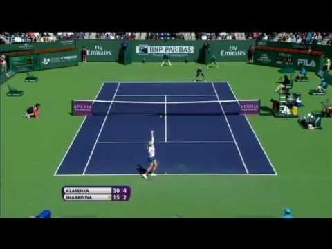 Sharapova vs Azarenka - Indian Wells 2012 Final - Highlights