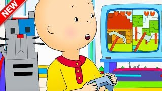 ★NEW★ 🎮 Caillou plays Video Games ⛏ Funny Animated Caillou | Cartoons for kids