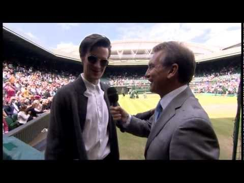 Doctor Who star Matt Smith is interviewed in Wimbledon 2012 Final