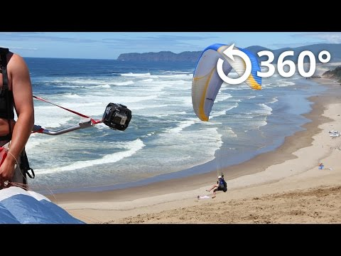 Paragliding at Cape Kiwanda 360 Video