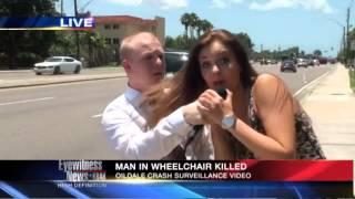 A male reporter is interrupted by a girl on LIVE-TV (FMRITP)