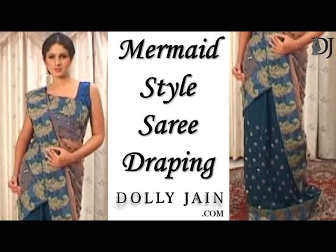 easy way to drape a saree
