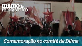 A comemora��o da vit�ria no comit� de Dilma em Recife