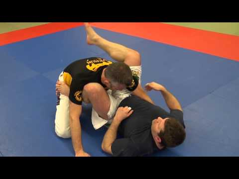 BJJ - Shin choke 'Gogoplata' from closed guard Image 1