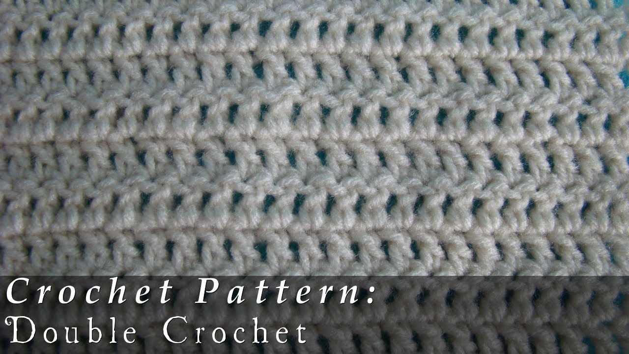 Youtube Crochet Patterns : Double Crochet Pattern Crochet Challenge 3/63 - YouTube