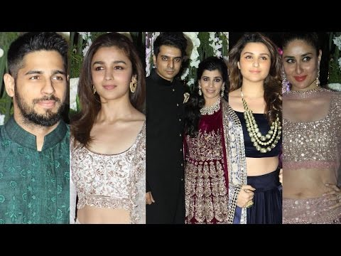 Kareena, Karisma, Alia, Sidharth, Parineeti, Gauri At Manish Malhotra's Niece' Sangeet