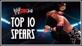 WWE 2K14 - Top 10 Spears! (WWE 2K14 Countdown)