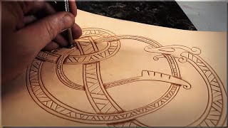 Leather Carving Tutorial - Viking Style