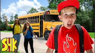 Back to School Bus Beast?! SuperHeroKids