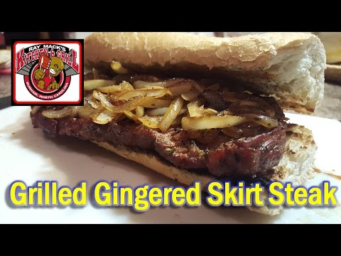 Grilled Gingered Skirt Steak: Skirt Steak Marinade