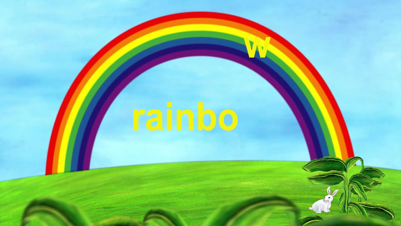 R Is For Rainbow Rabbit  amp Rainbow - Lower Case