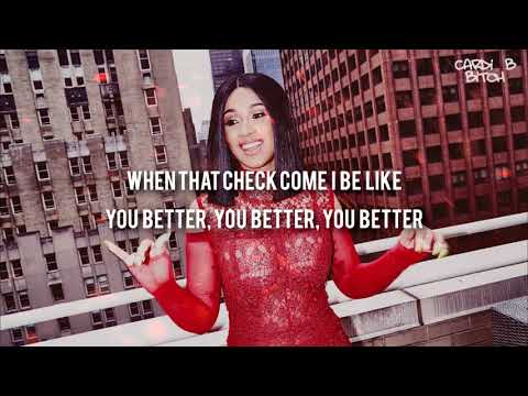 Cardi B - On Fleek (Lyrics - Video) HD