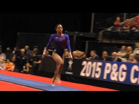 Gabrielle Douglas – Vault – 2015 P&G Championships – Sr. Women Day 1