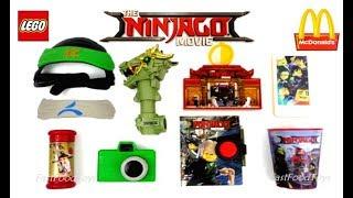 2017 FULL WORLD SET McDONALD'S LEGO NINJAGO MOVIE HAPPY MEAL TOYS 8 KIDS COLLECTION EUROPE USA UNBOX