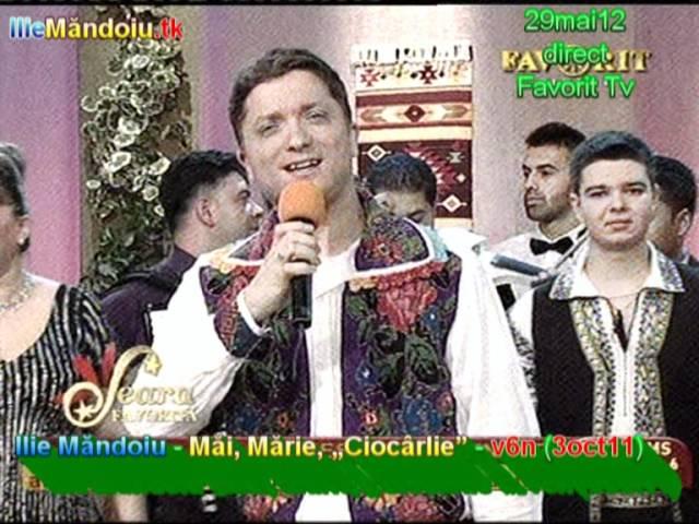 Ilie Mandoiu - Mai, Marie, 'Ciocarlie' - v6n (3oct11 [29mai12, d, Favorit]); dedicatie MARIA CIOBANU