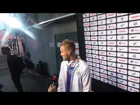Футбол. Финляндия - Украина 1:2. Интервью Андрея Ярмоленко. 11/06/2017