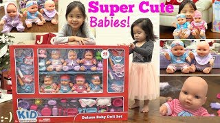 Children's TOYS: Kid Connection BABY DOLLS Playset. Cute Baby Dolls Unboxing and Playtime