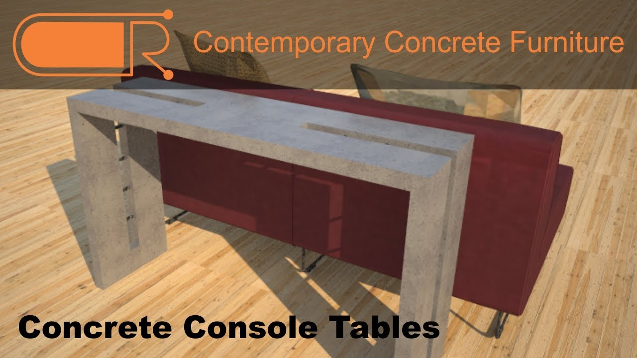 Concrete Console Table Hallway Tables Concrete Sofa Table Youtube