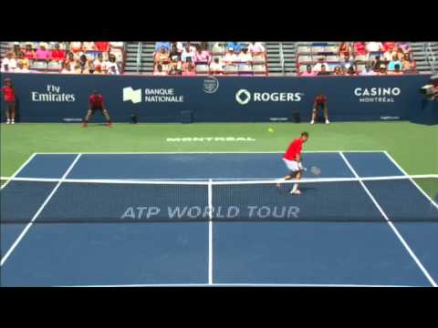 Marcel Granollers shows great reflex against Andy Murray to earn Hot Shot honours Wednesday at the Coupe Rogers. Watch more video at http://www.tennistv.com/