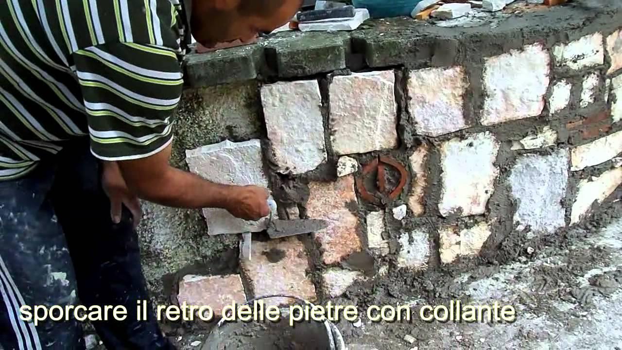 Rivestire un muro in pietre di trani squadrate youtube for Muri con pietre a vista