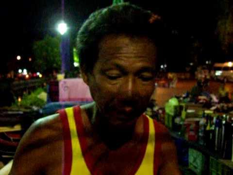 Voices of the poor. Street merchants Sanam Luang, Bangkok Thailand