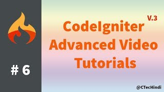 #6 CodeIgniter 3.x Advanced Tutorial - Create a user module and login, register page's