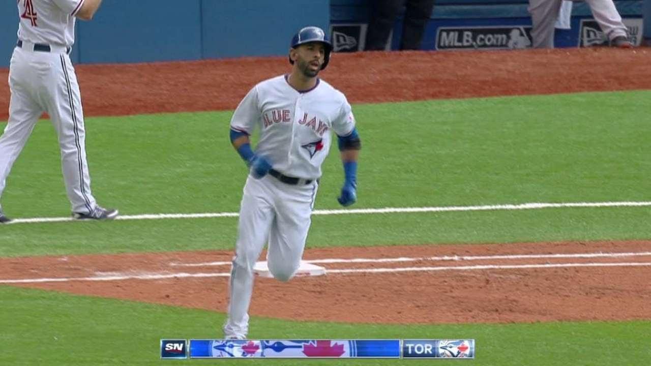 BOS@TOR: Bautista breaks it open with two-run homer
