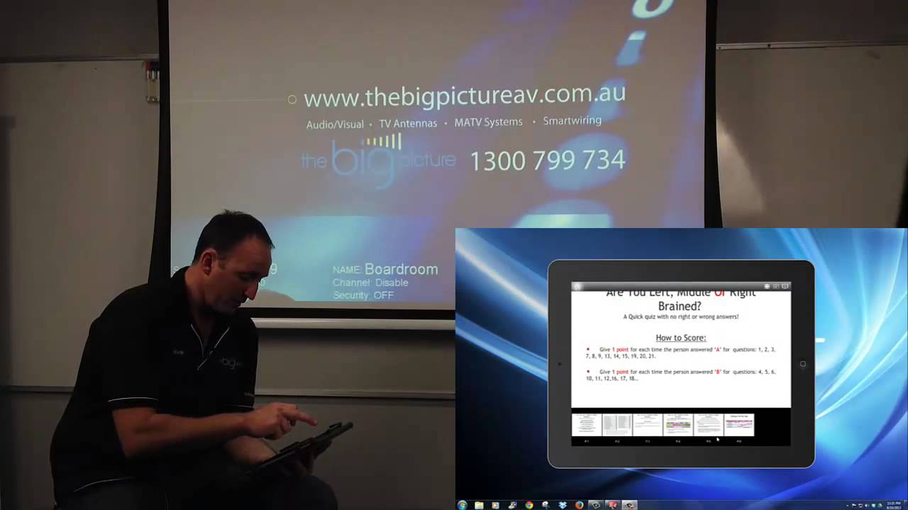 How to display your ipad on a projector wirelessly youtube for Ipad pro projector