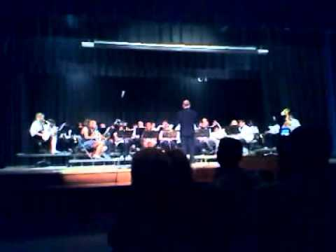 Marston middle school band playing blues brothers