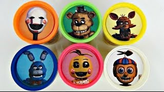 FIVE NIGHTS AT FREDDY'S Playdoh Toy Surprises with Chica, Bonnie, Foxy FNAF