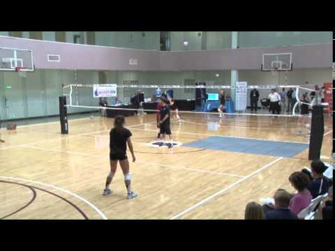 A Great Serving and Receiving Drill from John Dunning! - Volleyball 2015 #30