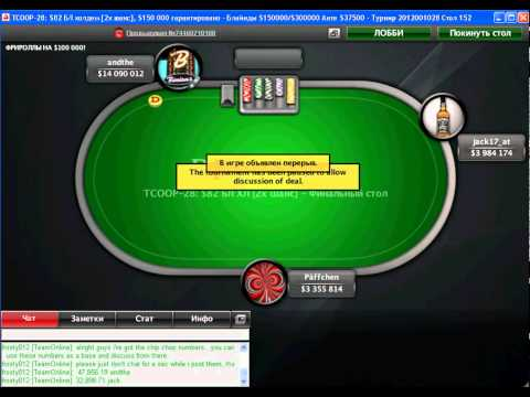 TCOOP 2012 - Event 28. FINAL TABLE