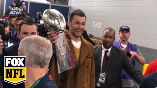 Tom Brady leaves with Lombardi Trophy after encounter with Kevin Hart | FOX NFL