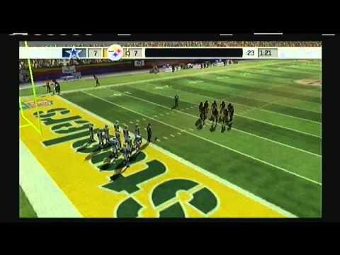 Madden NFL 07 Legendary Teams Game 71 Dallas Cowboys vs 74 Pittsburgh Steelers PlayStation 2 (Video Game Platform) American Football (Sport)