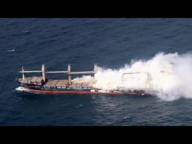 Ship abandoned off German coast amid explosion fears