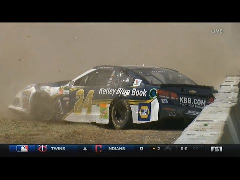 Monster Energy NASCAR Cup Series 2017. FP2 Sonoma Raceway. Chase Elliott Crash