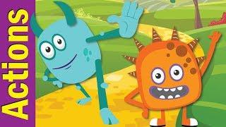 Stand Up, Sit Down   Actions Songs for Children   Kindergarten, Preschool & ESL   Fun Kids English