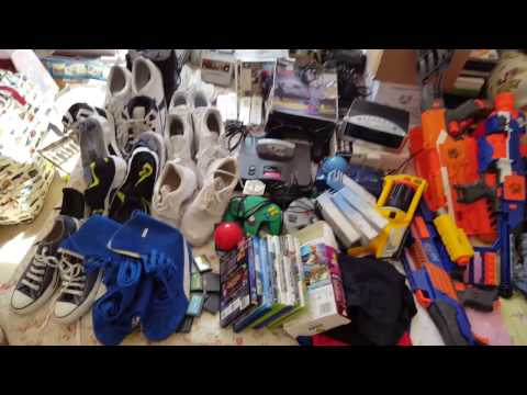 UK eBay reseller Saturday boot sale haul consoles trainers electricals
