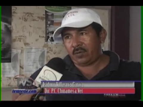 TVS Noticias.- Desciende rio chacalapa, Chinameca, Veracruz