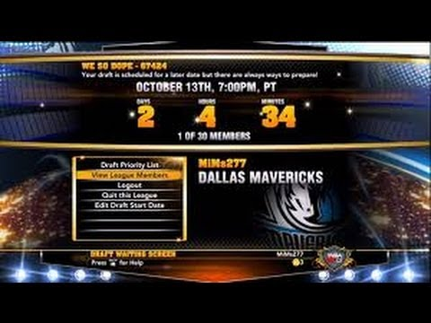NBA 2K14- We need Online League Fantasy Drafts! Let Your Voice Be Heard!!!