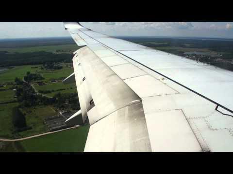 Работа крыла самолёта Boeing 737