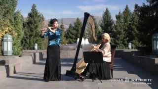 Danny Boy-Londonderry Air - Best Instrumental Harp & Flute Music Irish Song-Conference Center Garden