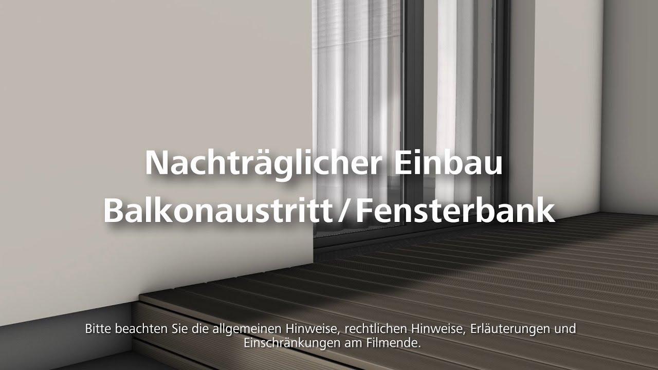 Balkonaustritt bzw fensterbank einbauen w rmed mmung for Fenster quellband