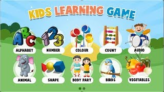 Fun Game For Kid learning Everything - Education Game
