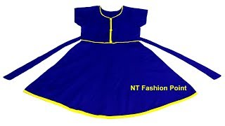 Kids creative neck design simple baby dress cutting and stitching | Custom designs baby frock