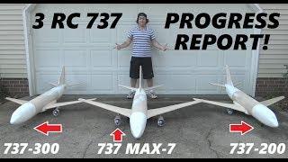 3 737 Max RC Airplane Airliner Progress Report! [4K]