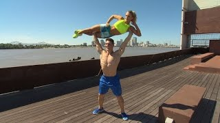 How This Extremely Fit Couple Workout Using The Outdoors Instead Of The Gym